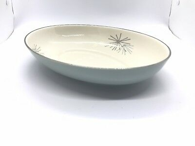 "Franciscan SILVER PINE 8 7/8"" Oval VEGETABLE SERVING BOWL Fine China"