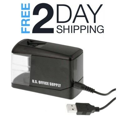 Battery Operated Pencil Sharpener Automatic Electric With Plug In USB Cord Small