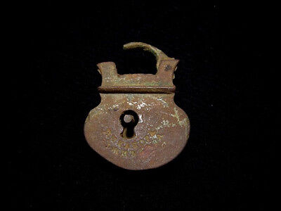 Fascinating Well Preserved Antique Bronze Padlock!!!