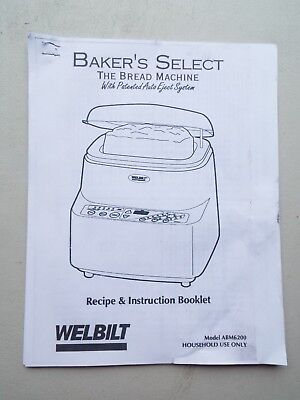 Welbilt Bread Machine Automatic Bakers Select Red Led Digital