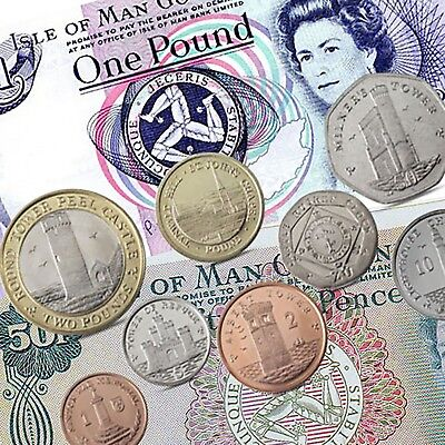 Isle of Man Currency Collection - IOM Manx Coins Banknotes