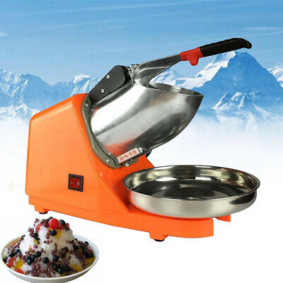 Electric Ice Shaver Machine Snow Cone Maker 143lbs Ice Crusher Shaving 300W 110V