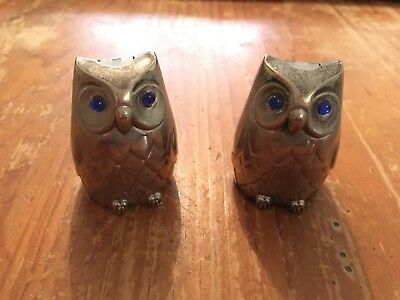 Owl Antique Salt and Pepper Shakers