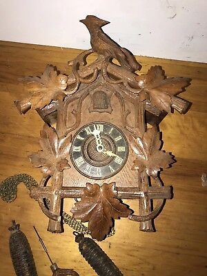 American Cuckoo Clock Co. Carved In Oak,phila Pa
