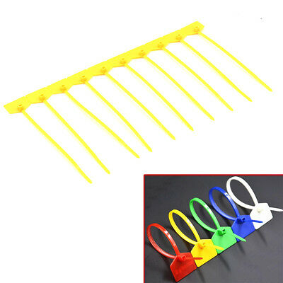 100 Nylon Wire Cable Label Mark Selflocking Marking Zip Tag Sign Tie  X
