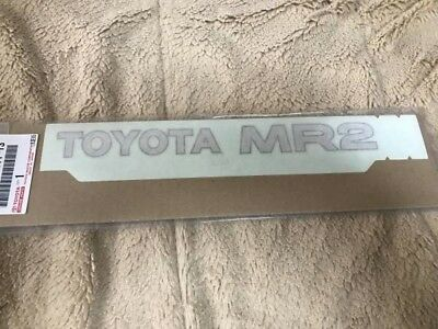 MR2 AW11 Rear Sticker Decal Toyota Genuine Parts Japan Import F/S