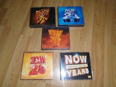 Now That's What I Call Music 20 21 22 28 & YEARS CD'S