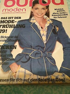 French Burda magazine 1979 with lmaster pattern lift out