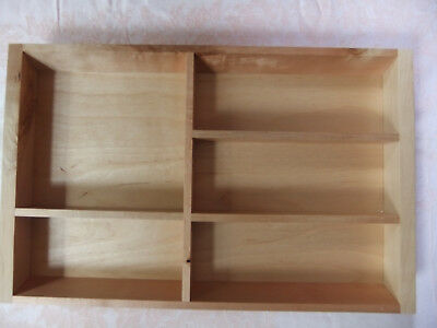 Ikea 'Rationell' wooden kitchen drawer divider,  timber tray cutlery insert