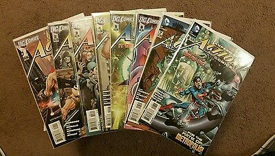 Action Comics New 52 comic lot issues 1-8 First Prints