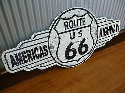 US Route 66 metal tin sign bar garage shed Americas Highway