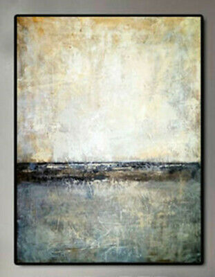 HH103# 100% Hand-painted Abstract scenery oil painting Skyline Decoration art