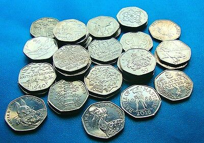Rare 50p Commemorative Coins Kew Gardens, Puddle Duck, Beatrix Potter FREE POST