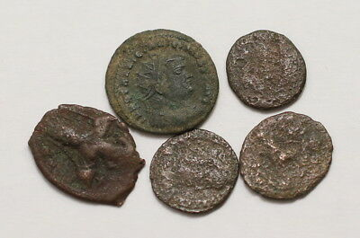 Ancient Roman & Byzantine - 5 Coins A98 Axc37