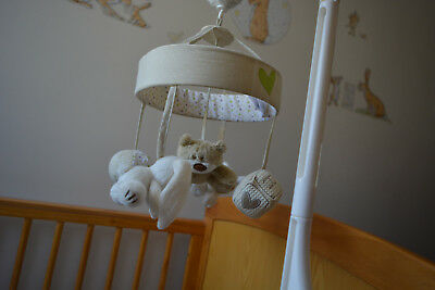 MotherCare Loved so much cot mobile - Bear Sheep and Bunny Design - Boys & Girls