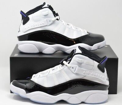 premium selection e8bf3 dcb57 AIR JORDAN 6 Rings Concord White Black Mens Basketball Shoes 322992-104  Size 9