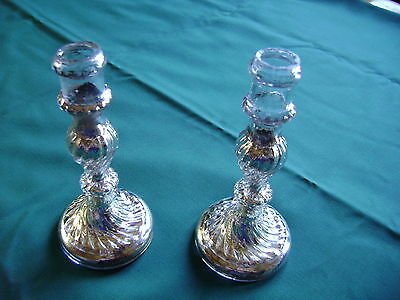 Lot De 2 Bougeoirs En Verre Mercurise