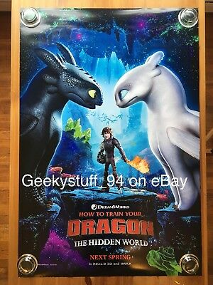 How To Train Your Dragon The Hidden World DS Theatrical Movie Poster 27x40