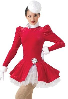 Christmas Ice Skating Costumes.New Figure Ice Skating Baton Twirling Holiday Costume