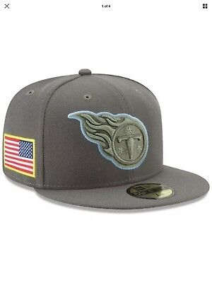 1ab351499 Tennessee Titans NFL Salute to Service New Era 59Fifty Fitted Hat Size 7 NEW