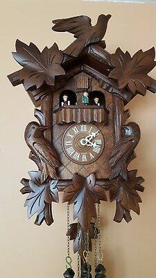 STUNNING BLACK FOREST  MUSICAL  CUCKOO  CLOCK / Fully  Servised/NIGHT SHUT OFF/