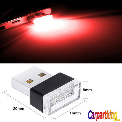 Red LED USB Wireless Flexible Neon Ambient LED light For Car Interior Decoration