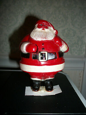 Vintage Rosbro Christmas Santa Candy Holder Container 1950's