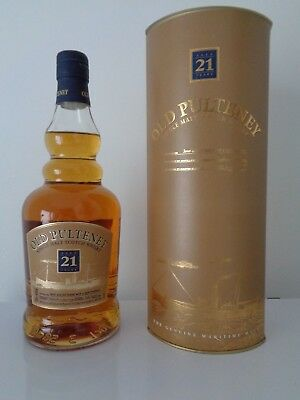 Old Pulteney 21YO von 1983, Single Malt Scotch 700ml., 46% Vol., Geschenkbox