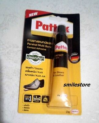 Pattex Adhesive Fixer Leather for Shoe Repair Glue Sole Boots Rubber Craft 15g