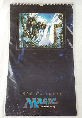 vintage 1996 magic the gathering full color calendar new sealed