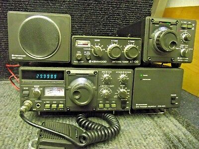 TRIO KENWOOD TS120V ORP-Line with VFO-120 PS-20 Tuner AT-120 Speaker SP120 Mike