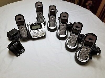 UNIDEN TRU 8065 / 8866 5.8 GHz CORDLESS PHONE SET W/ 6 HANDSETS!! SPEAKERPHONES!