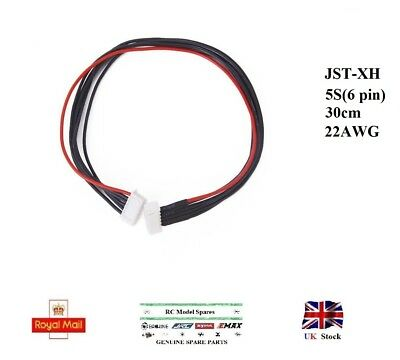 JST-XH 5S LiPo Balance Extension Wire Battery Silicone Cable Lead 22AWG 30cm