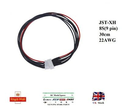 JST-XH 8S LiPo Balance Extension Silicone Wire Battery Cable Lead 22AWG 30cm