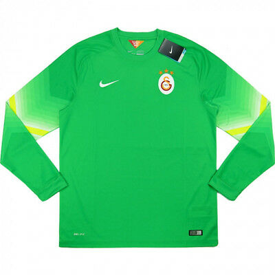 2014-15 Galatasaray Goalkeeper GK Home Nike Football Green Shirt BNWT w/Tags  XL