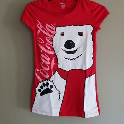 NWOT Coca Cola Polar Bear Red Tee Women's Size Small