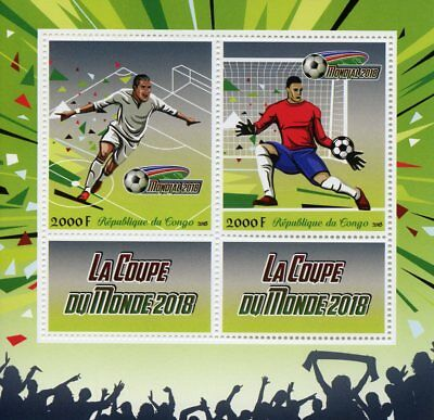 Congo 2018 MNH World Cup Football Russia 2018 2v M/S Soccer Sports Stamps