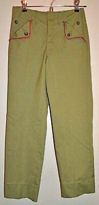 VINTAGE Boy Scouts of America Child's Olive Green Uniform Pants BSA 1960s 1970s