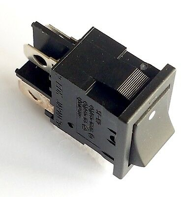 SE-W2 DPST Rocker Switch EDK (JAPAN) 250V 4A, TV MAINS ON-OFF, 21x15mm -ref:872