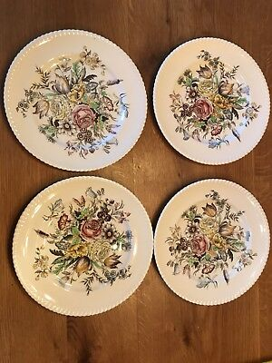 Johnson Brothers Garden Bouquet Windsor Dinner Plates Qty- 4