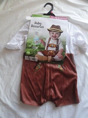 CHILD COSTUME *BABY BAVARIAN* infant 12-18 months NEW WITH PACKAGING