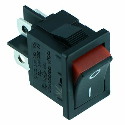 Red Rectangle 'Visi On' Rocker Switch DPST 4 Terminals 6A