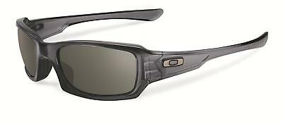 New Oakley Women's Fives Squared OO9238-05 Black Rectangle Sunglasses Fast Ship