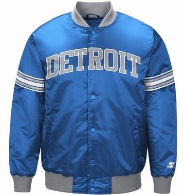 49ac9927 AUTHENTIC DETROIT LIONS Starter NFL satin jacket - Blue