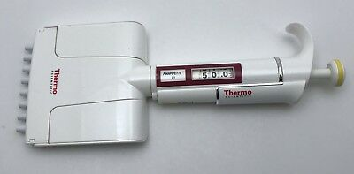 Thermo Finn F1 8 Channel MultiChannel Pipette 5-50uL, Cleaned and Calibrated