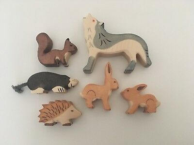 Holztiger Woodland Bundle Wolf, Squirrel, Hare, Mole And Hedgehog