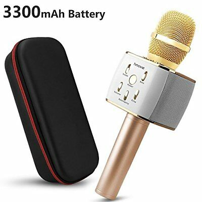 3300amh Wireless Microphone Karaoke with 2 Built-in Bluetooth S(blanc)