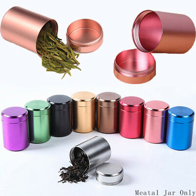 Proof Airtight Storage Herb Stash Jar Tea Box Mini Metal Cans Sealed Container