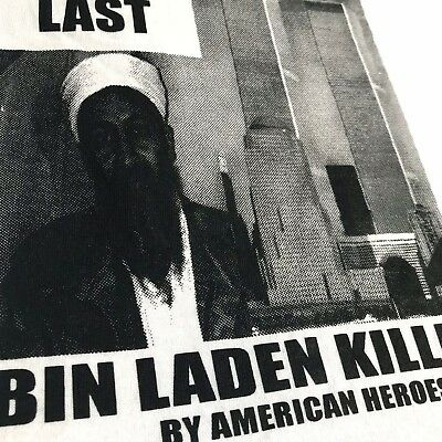06c82c921 VTG NOS OSAMA Bin Laden Americas Most Wanted T Shirt Sz M Dead or ...