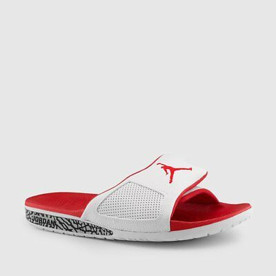 02534641f888 JORDAN HYDRO III Retro Men s Slides White University Red Black ...
